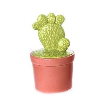 """Cactus déco forme """"main"""" dans son pot en terracotta 10,5x10,5x20cm"""