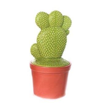 """Cactus déco forme """"main"""" dans son pot en terracotta 12,5X12,5X25cm"""
