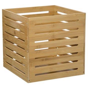 Caisse de rangement en bambou 31x31