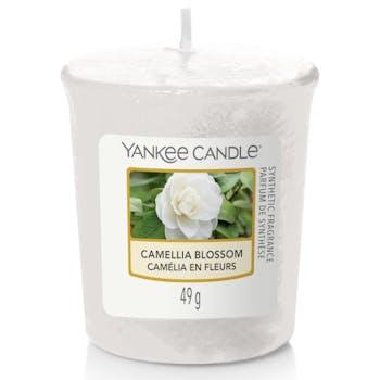 Camélia en fleurs bougie parfumée votive YANKEE CANDLE