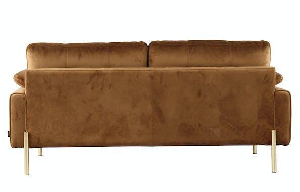 Canapé 2 places en velours camel GLASGOW