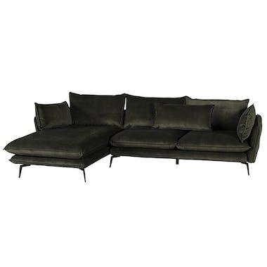 Canapé d'angle kaki retour droit MALMOE