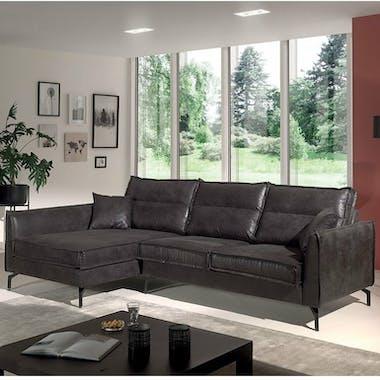 Canapé d'angle gris (retour gauche) EPIKA