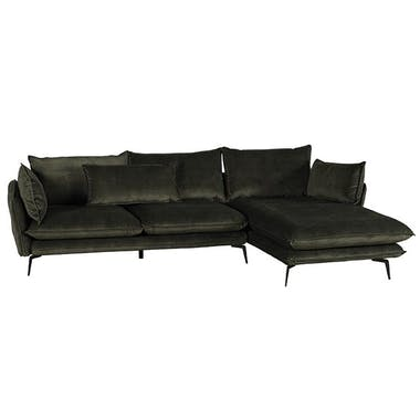 Canapé d'angle kaki retour gauche MALMOE