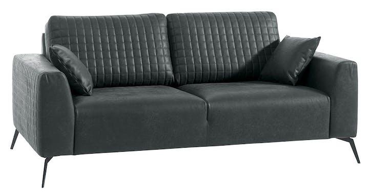 Canapé droit 3 places gris Chester