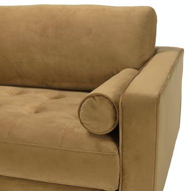 Canapé en velours beige TIM