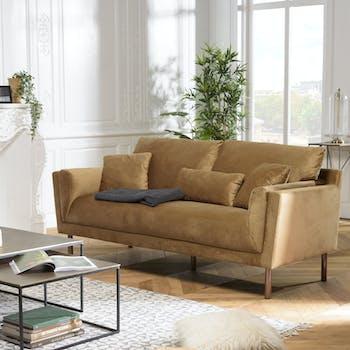 Canapé moderne en velours beige TIM
