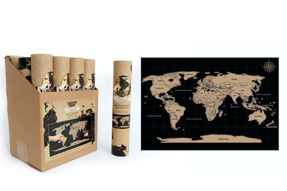 Carte de monde à gratter 30x20 cm