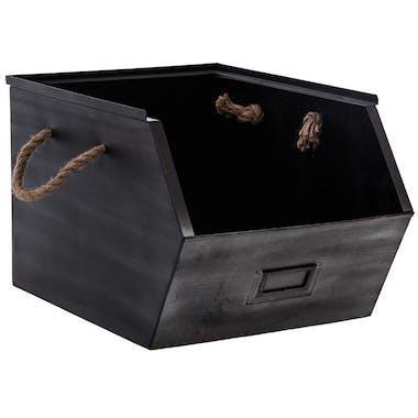 Casier en métal noir 23x32x20cm