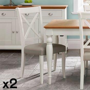 Chaise blanche de salle à manger (lot de 2) PORTSMOUTH