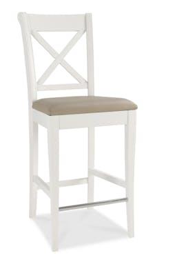 Chaise de bar blanche (lot de 2) PORTSMOUTH