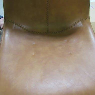 Chaise de bar camel coutures apparentes pieds étoile HELSINKI