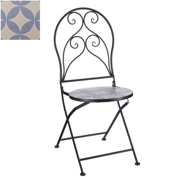Chaise de jardin mosaïque bleue (lot de 2) GRENADE