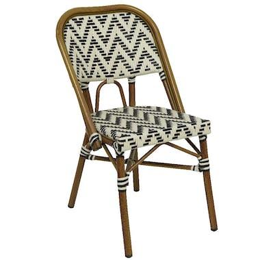 Chaise de jardin motif zigzag