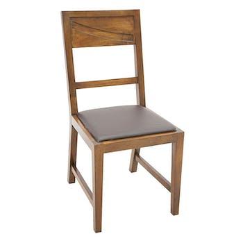 Chaise de repas Hévéa assise mousse 42x50x90cm NIAGARA