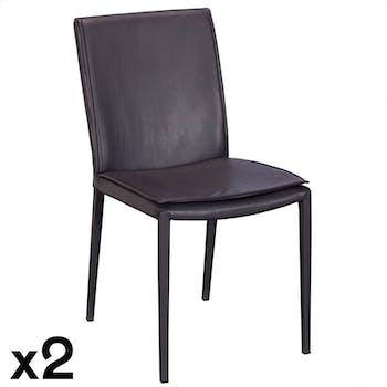 Chaise de salle à manger grise (lot de 2) TORONTO