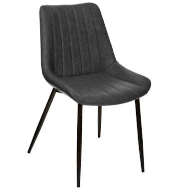 Chaise de table grise (lot de 2) GOTEBORG