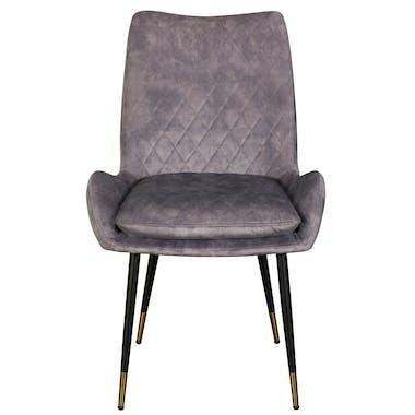 Chaise de table velours gris (lot de 2) QUEENSTOWN