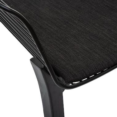 Chaise design noire (lot de 2) MONTGOMERY
