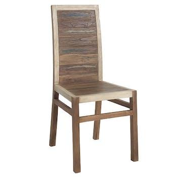 Chaise en bois de bateau recyclé SUMATRA