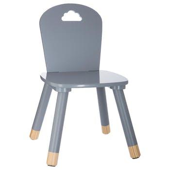 Chaise en bois enfant grise
