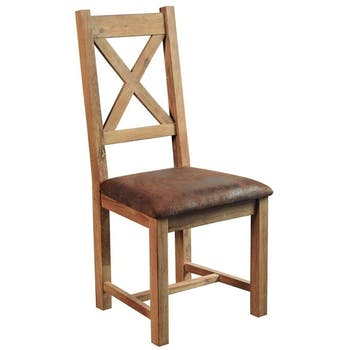 Chaise en chêne massif assise microfibre FJORD