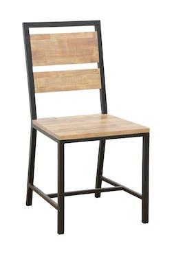 Chaise en Hévéa recyclé naturel et métal 45x51x90cm LOFT
