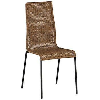 Chaise en résine tressée CANADA (lot de 2)