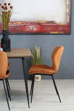 Chaise en velours brique style moderne (lot de 2) MELBOURNE