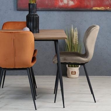 Chaise en velours gris style moderne (lot de 2) MELBOURNE