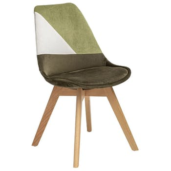 Chaise en velours kaki style scandinave (lot de 2) GOTEBORG