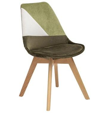 Chaise en velours kaki style scandinave (lot de 2) GOTEBORG