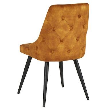 Chaise en velours ocre (lot de 2) MALMOE