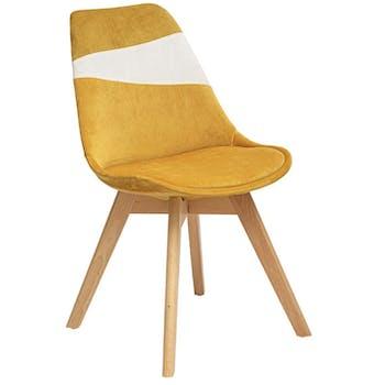 Chaise en velours ocre style scandinave (lot de 2) GOTEBORG