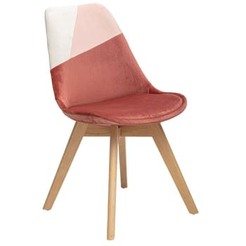 Chaise en velours rose style scandinave (lot de 2) GOTEBORG