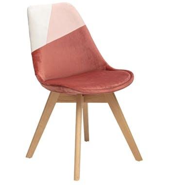 Chaise en velours rose style scandinave (lot de 2) GOTEBORG