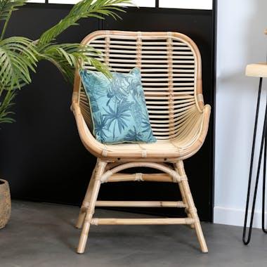 Chaise fauteuil en rotin