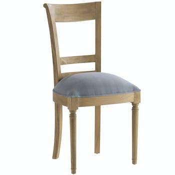 Chaise grisé LEON L48xP50xH98cm AMADEUS