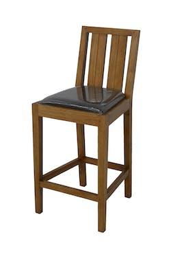 Chaise haute de bar en hévéa ATTAN