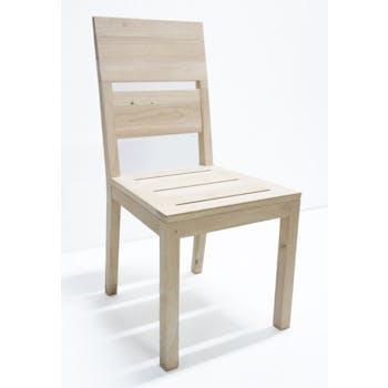 Chaise Hévéa 52x45x95cm OLGA