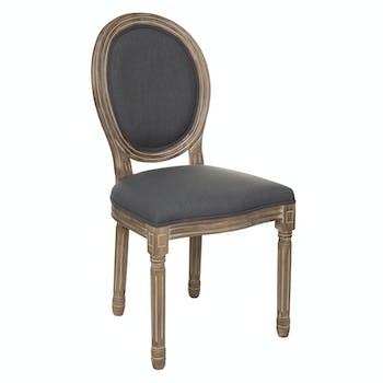 Chaise médaillon grise (lot de 2)