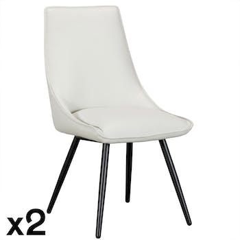 Chaise moderne grise (lot de 2) VERONE