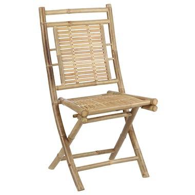 Chaise repas en bambou naturel (lot de 2)