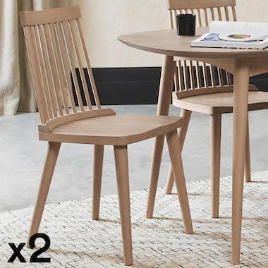 Chaise scandinave à barreaux (lot de 2) COPENHAGUE