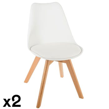 Chaise scandinave blanche (lot de 2) GOTEBORG