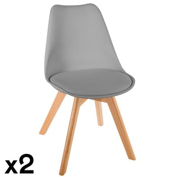 Chaise scandinave grise (lot de 2) GOTEBORG