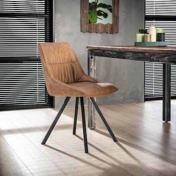 Chaise scandinave marron TRIBECA