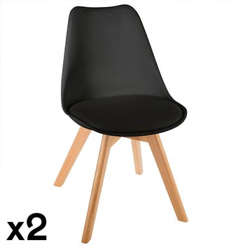 Chaise scandinave noire (lot de 2) GOTEBORG