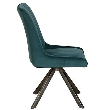Chaise velours bleu lagon (lot de 2) HUDSON