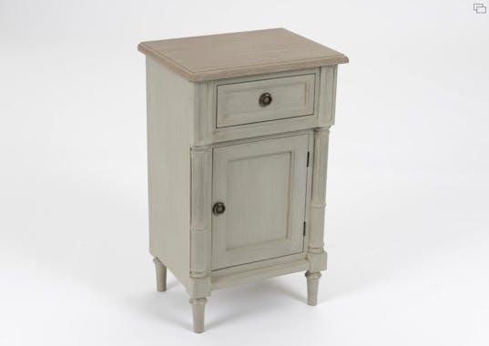 Chevet Louis XVI en bois gris 1 tiroir EDOUARD L 40 x P 30 x  H 65 AMADEUS